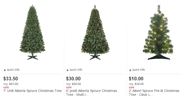 Target christmas trees for off starting as low