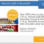 New Saving Star Freebie: Almond Joy or Mounds Candy!