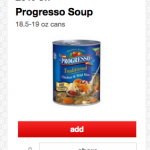 Target: Progresso Soup for $0.50 with New Printable + Cartwheel Offer!