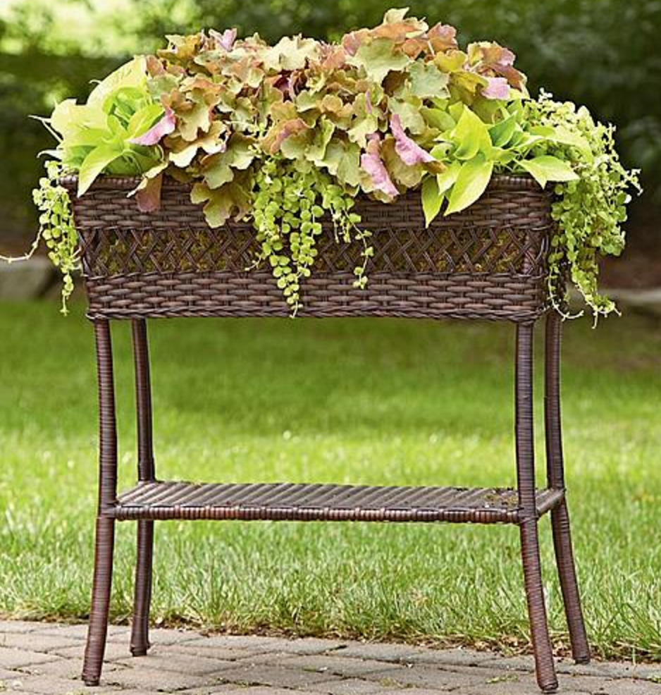 Sears Grand Harbor Wicker Indoor Outdoor Plant Stand Only