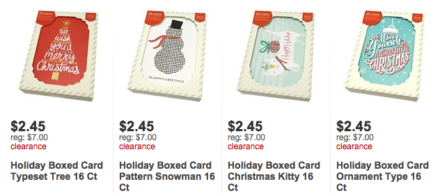 screen shot 2016 01 25 at 72903 am target has several varieties of 16ct boxed christmas cards - Target Photo Christmas Cards