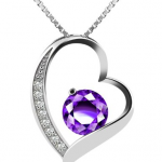 Amazon: J.Rosée Sterling Silver Cubic Zirconia Heart Necklace for Only $13.99!