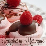 Raspberry Meringue Cookies