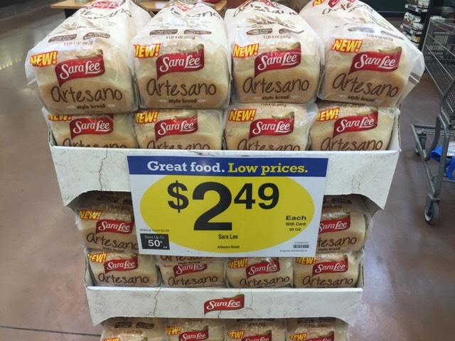 Sara Lee Artesano Bread Only $1.49 at King Soopers & Kroger!
