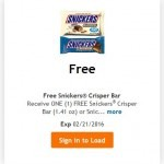 King Soopers & Kroger Friday Freebie: Snickers Candy!