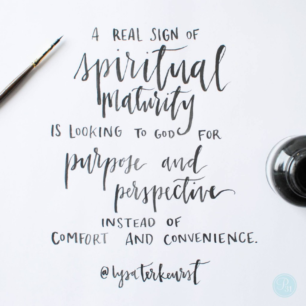 Faithful Friday: Spiritual Maturity