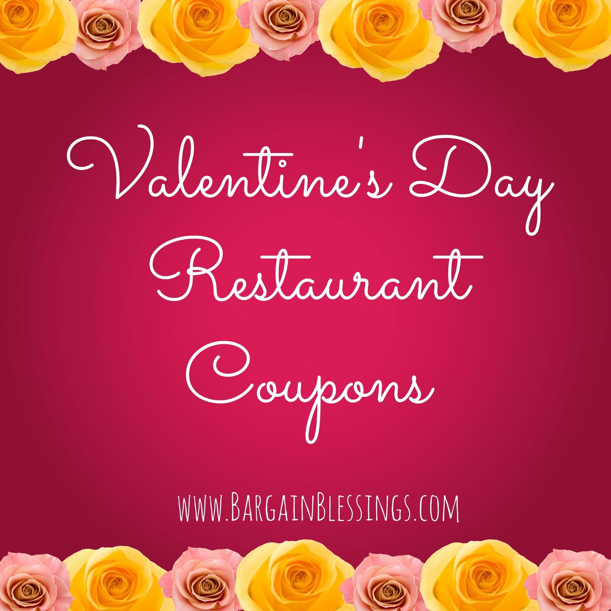 Restaurant coupons valentine's day