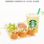 Starbucks Rewards Members: 50% off a Snack with Drink Purchase Today (3/14)!