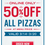 Dominos Coupon Code: Save 50% off Any Pizza!