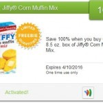 New Saving Star Freebie: Jiffy Corn Muffin Mix!