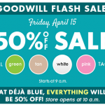 Goodwill Colorado: 50% off Flash Sale Today (4/15)!