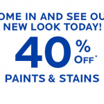 Sherwin Williams Paints & Stains: 40% off + $10 off $50 Coupon!