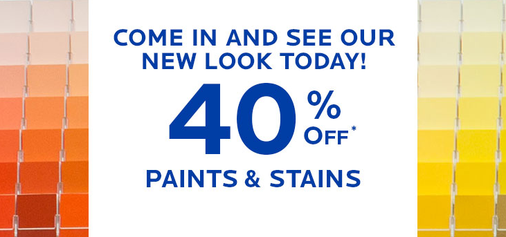 graphic about Sherwin Williams Printable Coupon titled Sherwin Williams Paints Stains: 40% off + $10 off $50 Coupon!
