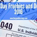 Tax Day Freebies and Deals 2016!