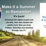 Earn 2X Fuel Points Every Weekend, Through July 31st, at King Soopers!