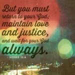 Faithful Friday: Wait for Your God…Always