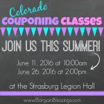 Couponing 101 Classes This Summer In Strasburg: Registration is Open!