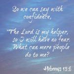 Faithful Friday: The Lord Is My Helper