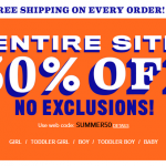 The Children's Place 50% Off Entire Site + Free Shipping With Coupon Code!