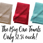 The Big One Bath Towels Only $2.54 Each from Kohl's + FREE In-Store Pick-up!