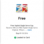 King Soopers & Kroger Friday Freebie: Yoplait Single Serve Yogurt!