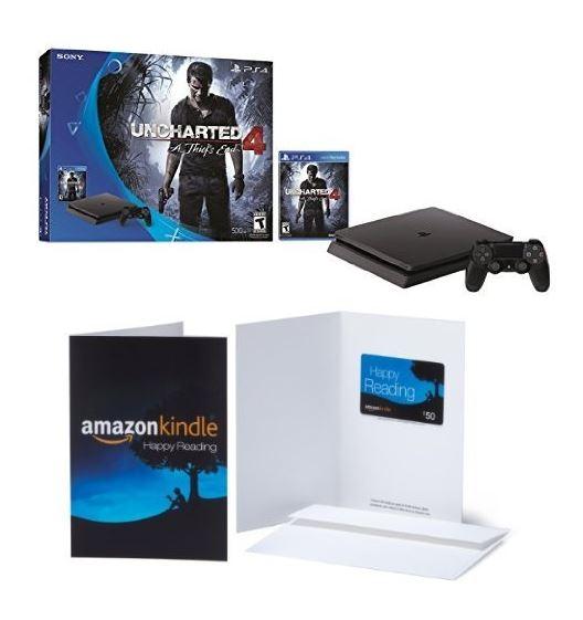 playstation 4 slim uncharted 4 bundle 50 amazon gift. Black Bedroom Furniture Sets. Home Design Ideas