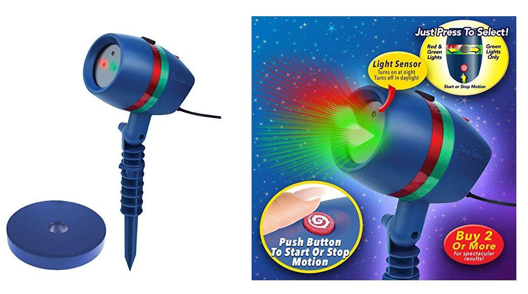 Star Shower Motion Laser Lights Star Projector Only 30 17