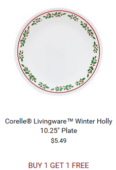 ... Open Stock Dinnerware and Accessories Buy One Get One Free! corelle -holly-plate  sc 1 st  Bargain Blessings & HOT* Shop World Kitchen: Buy One Get One Free Corelle Open Stock ...
