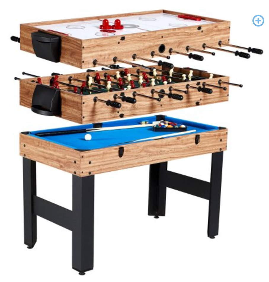 Walmart 3 in 1 multi game table for only 79 down from for 10 games in 1 table