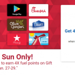 Earn 4X Fuel Points on Gift Cards at King Soopers This Weekend (1/27-1/29)!