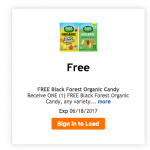 Free Organic Black Forest Candy from King Soopers!