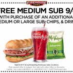 Firehouse Sups Labor Day Coupon: Free Medium Sub with Purchase!